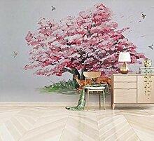 3D Fototapete 3D Effekt Handbemalter Rosa