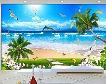 3D Fototapete 3D Effekt Kokosnussbaum Am Strand