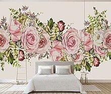 3D Fototapete 3D Effekt Rosa Rosenblütenblätter