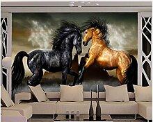 3D Fototapete 3D Tapete Weißes Pferd Tapete