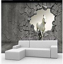 3D Fototapete 3D Wandbild Pferd Wand Fernseher