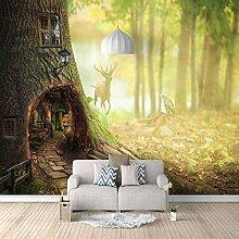 3D Fototapete Baumhaus Vlies Wandtapete Moderne