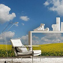 3D Fototapete Blauer Himmel Weiße Wolke Moderne