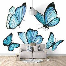 3d Fototapete blauer Schmetterling Wohnzimmer