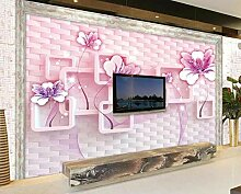3D Fototapete Blockmuster 200 x 140 cm Tapete 3D