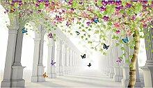 3D Fototapete Blumen Baum Hintergrund