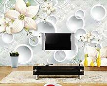 3D Fototapete Blumenmuster 400 x 280 cm Tapete 3D