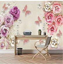 3D-Fototapete Blumentapeten für Wohnzimmer 3d