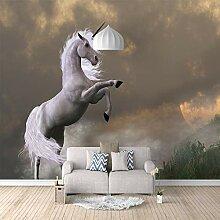 3D Fototapete Einhorn Vlies Wandtapete Moderne