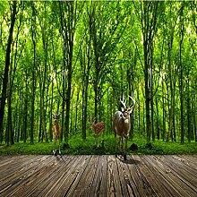 3D Fototapete Elch Dschungel 3D Landschaft