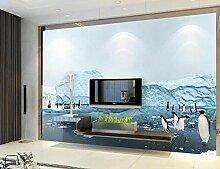 3D Fototapete Gletscherpinguin 300 x 210 cm Tapete