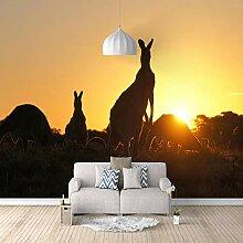 3D Fototapete Känguru Vlies Wandtapete Moderne