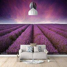 3D Fototapete Lavendel Vlies Wandtapete Moderne