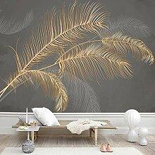 3D Fototapete Moderne Wanddeko Wandbilder Goldene