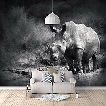 3D Fototapete Nashorn Vlies Wandtapete Moderne