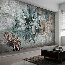 3D Fototapete Nordic Retro Blume Schlafzimmer