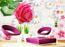 3D Fototapete Rose 200 x 140 cm Tapete 3D Wandbild