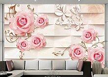 3D Fototapete Rose 280 x 200 cm Tapete 3D Wandbild