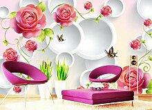 3D Fototapete Rose 300 x 210 cm Tapete 3D Wandbild