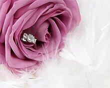 3D-Fototapete Rose Feather Wandbild Schlafzimmer