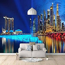 3D Fototapete Stadtnachtansicht Vlies Wandtapete