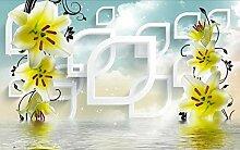3D Fototapete Süßwasserlilie 300 x 210 cm Tapete