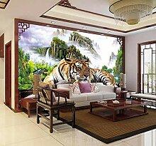 3D Fototapete Tiger Abschüssiger