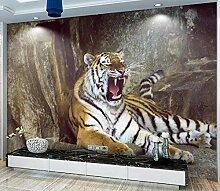 3D Fototapete Tigerzähne 400 x 280 cm Tapete 3D