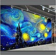 3d Fototapete Van Gogh Sternenhimmel Wohnzimmer