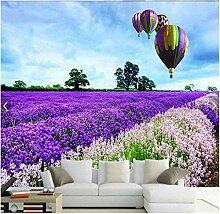 3d Fototapete Vlies Lavendel Manor Heißluftballon