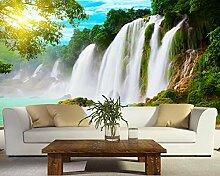 3D Fototapete Waldwasserfall Wandbild Wohnzimmer