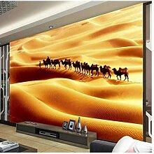 3D Fototapete Walking On The Desert Camel Tapete