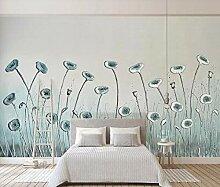 3D Fototapete Wandbild Abstrakte Mintgrüne Blumen