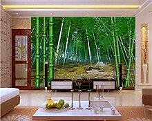 3D Fototapete Wandbild Bambus Wald für Wohnzimmer
