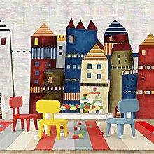 3D Fototapete Wandbild Farbiges Gebäude Moderne