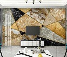 3D Fototapete Wandbild Geometrische Goldene Linien