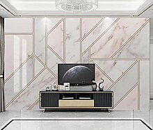 3D Fototapete Wandbild Geometrischer Rosa Marmor
