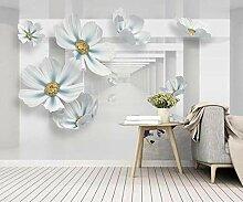 3D Fototapete Wandbild Geprägte Schmuckblumen