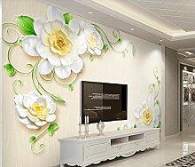 3D Fototapete Wandbild Geprägte Weiße