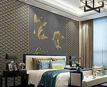 3D Fototapete Wandbild Goldene Geprägte Linien