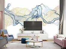 3D Fototapete Wandbild Goldene Linien Der
