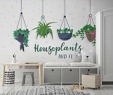 3D Fototapete Wandbild Grüne Topfpflanze Einfach