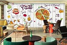 3D Fototapete Wandbild Küche Pizza für