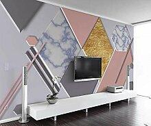 3D Fototapete Wandbild Rosa Geometrischer