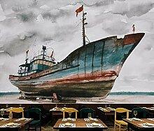 3D Fototapete Wandbild Segelschiff Nostalgisch