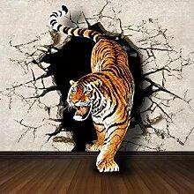 3D Fototapete Wandbild Tiger Moderne Wanddeko