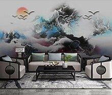 3D Fototapete Wandbild Tintenlandschaft Des