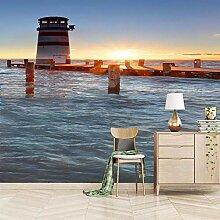 3D Fototapete Wandbild Wandbilder See-Leuchtturm