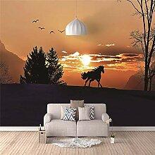 3D Fototapete Wandbild Wandbilder Sonnenuntergang,