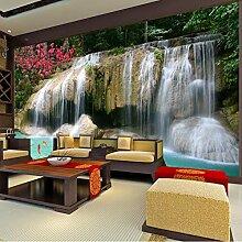 3D Fototapete Wandbild Wasserfalllandschaft
